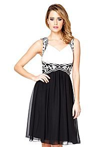 Quiz Chiffon Embellished Pleated Dress £59.99