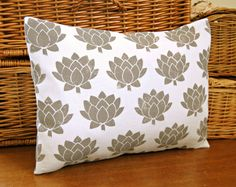 gray block printed decorative pillow cover grey by LittleJoobieBoo, £20.00