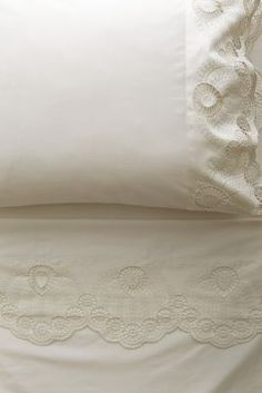 Eyelet Embroidered Sheet Set  #Anthropologie #PinToWin