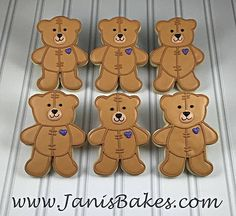 janisbakes, teddy bear decorated cookies, build a bear                                                                                                                                                                                 More