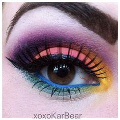 BEAUTY & MAKEUP - Sugarpill Cosmetics Love this amazing look xoxokarbear created using her Sugarpill eyeshadows!