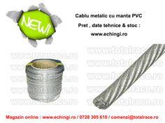 Disponibil din stoc Bucuresti - cablu metalic cu manta de PVC diverse dimensiuni Preturi , date tehnice & stoc : http://echingi.ro/produse/cabluri-metalice-cu-manta-pvc