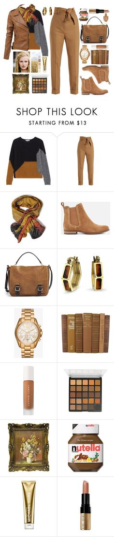 """""""bria"""" by lunarsimona ❤ liked on Polyvore featuring Gérard Darel, Sara Battaglia, Superdry, Vince Camuto, Bling Jewelry, Michael Kors, Puma, Bobbi Brown Cosmetics, leatherjackets and contestentry"""