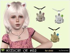 Lovely decoration for a little girl from the series 'Little Kitten' - Pendant 'Kitty' with rhinestones. Found in TSR Category 'Sims 3 Necklaces' The Sims, Sims Cc, Kitten Accessories, Phone Accessories, Lunch Box Cooler, Little Kittens, Sims 4 Mods, 3 Kids, Sims 4 Custom Content