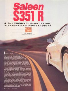 """""""Saleen R"""", Motor Trend, April 1996 Sn95 Mustang, Saleen Mustang, Ford Mustangs, The Old Days, Car Stuff, Have Time, Porn, How Are You Feeling, Feelings"""