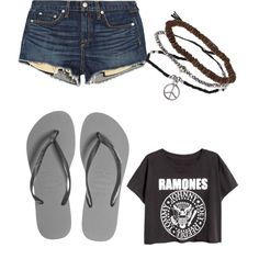 Untitled #228 by evanmonster on Polyvore featuring polyvore fashion style rag & bone/JEAN Havaianas Topshop
