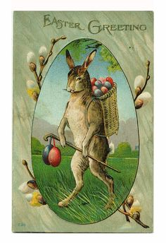 Vintage Easter Card Postcard Edwardian 1910 by EvelynnsAlcove, $12.50