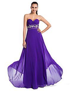 A-line/Princess Sweatheart Floor-length Chiffon Evening/Prom Dress