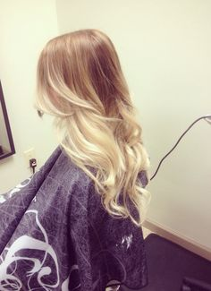 loose curls ombre