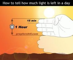 How to tell how much light is left in a day!!!