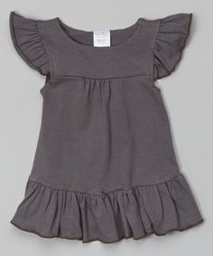 Loving this Gray Angel-Sleeve Dress - Infant on #zulily! #zulilyfinds