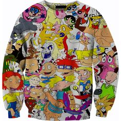 90's Vintage Nickelodeon Sweater Tshirt Crewneck Sweatshirt 1080p HD... ($60) ❤ liked on Polyvore featuring tops, hoodies, sweatshirts, sweaters, shirts, summer shirts, crew neck sweatshirts, crew shirt, women plus size tops and womens plus size shirts