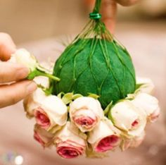 Pomander Wedding Ideas, with your wedding colors for the seats down along the isle? :) @Kirsten Heitz