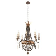 Check out this item at One Kings Lane! Delacroix 8-Light Chandelier, Bronze