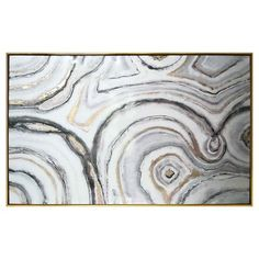 "Geode Framed High Gloss Canvas 40""x25"" - Threshold™ : Target"