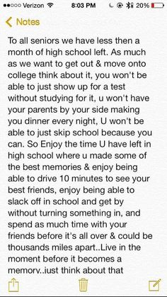 advice for high school seniors