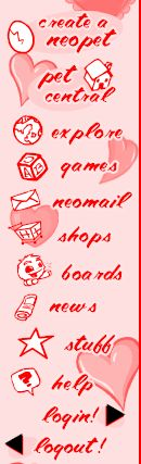 valentines day love hearts sidebar links buttons create neopet pet central explore games neomail shops boards news stuff help login logout arrows