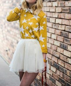 Star sweater and skirt