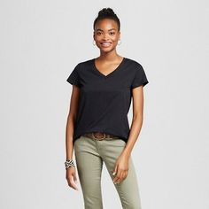 Mossimo Supply Co. Women's Short Sleeve Relaxed V-Neck T-Shirt - Mossimo Supply Co. #teengirl #tshirt #ad