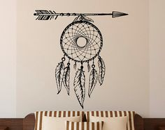 Unique Boho Dreamcatcher Wall Decal Large Dream by FabWallDecals
