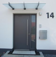 House number anthracite RAL 7016 XXL 25 cm or 30 cm high number 1 2 3 4 5 6 7 8 9 0 . Modern Entrance Door, Modern Exterior Doors, Modern Front Door, Front Door Design, House Entrance, Entrance Doors, The Doors, Door Design Interior, Exterior Design