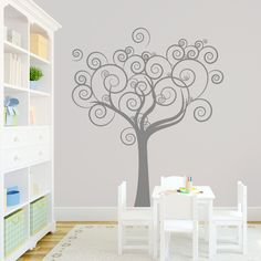 vinyl family tree wall decals | Whimsical Love Tree Wall Decal