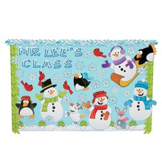 Celebrate the winter season with a big colorful Winter Wonderland display! Includes 12 border pieces, letters, numbers and a big variety of . December Bulletin Boards, Summer Bulletin Boards, School Bulletin Boards, Bulletin Board Supplies, Bulletin Board Display, Board Decoration, School Decorations, Oriental Trading, Winter Wonderland