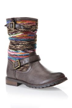 Yarn Multi Colored Riding Boot