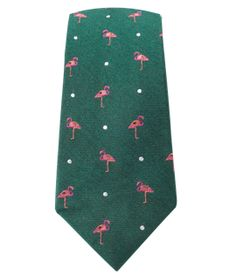 Pink Flamingo - Hunter Green (Skinny) | Ties, Bow Ties, and Pocket Squares | The Tie Bar