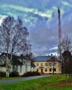 Phone mast and Ilmajoki telephone museum.