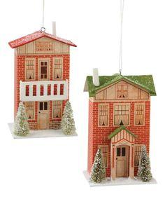 Dollhouse Ornaments | Putz House Christmas Ornaments - The Holiday Barn