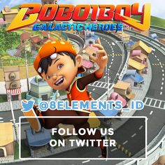 Hi BoBoiBoy Fans!  Follow our Twitter! @8elements_ID Get some information about BoBoiBoy in here!  Don't forget to LIKE and SHARE with everyone, and please FOLLOW the other social media of 8elements on: ▶️Instagram: @8elementsid ▶️Twitter: @8elements_ID ▶️Line ID: @kxe0905j ▶️PicMix: @boboiboy_games ▶️Youtube: 8elements – We understand Games! =========================================== #BoBoiBoyGalacticHeroes #BoBoiBoy #BoBoiBoyGalaxy