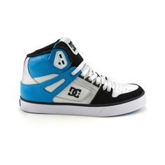 Shop for Mens DC Spartan Hi Skate Shoe in Black Turquoise White at Journeys  Shoes. 1fcbfd7d3