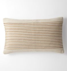 Woven Mohair Striped Pillow Cover Navy Stripe - 16in. x 26in.
