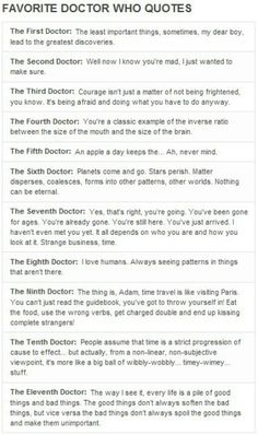 Favorite Doctor Who quotes