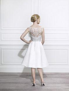 krátké svatební šaty s krajkou retro 60´s - plesové šaty 07f6bada58