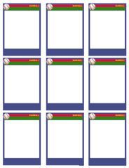 Baseball bat pattern use the printable pattern for crafts for Baseball card size template