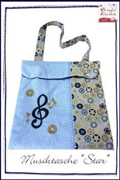 Umhängetaschen - Musiktasche, Notentasche, Flötentasche - ein Designerstück von dietapfereschneiderin bei DaWanda