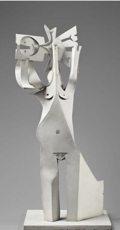 Pablo Picasso, 1961, Woman and Child, painting, sheet metal.