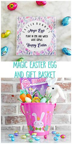 Easter Bunny's Magic Eggs: DIY Easter Basket - Crafty Little Gnome #diyeasterbasket #magiceasterseeds #magiceastereggs #easterdiy #eastercrafts #kidseastercrafts #eastertutorial #easterbasket #eastergiftbasket
