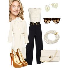 High Waisted Trousers, created by anniepro on Polyvore