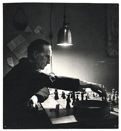 July 28, 1887- Marcel Duchamp a painter, sculptor, chess player, and writer is born in Blainville-Crevon, France