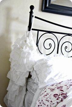 Ruffle White Laundry Bag