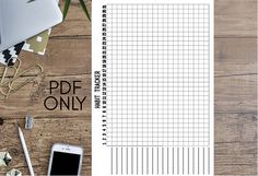 Monthly Habit Tracker with Dot Grid Personal Wide Printable