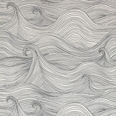 waves,  line drawings are the best