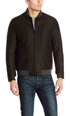 Perry Ellis Men's Multicolor Bomber Jacket, Rosin, X-Large Best Price