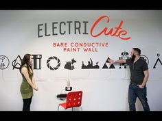 SparkFun ElectriCute - Bare Conductive Paint Wall - YouTube