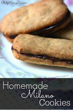 SUPER Easy To Make! Taste Better Than The Cookies You Buy In The Store - Pin and Make Homemade Milano Cookies #recipe #cookie #milano #budgetsavvydiva via budgetsavvydiva.com