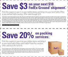 Ground and packing coupon promotion