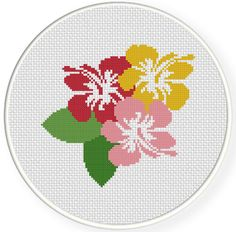 FREE for Sept 20th 2014 Only - Hibiscus Cross Stitch Pattern